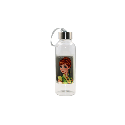 Sublimation Glass Water Bottles With Square White Patch