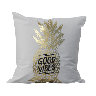 Pineapple 45*45cm Gold Stamping Cushion Cover